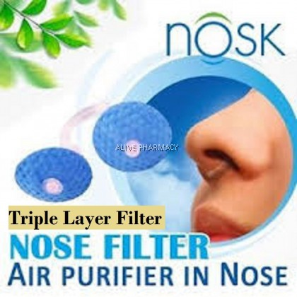 NOSK 3-LAYERED NASAL FILTERS 1'S (For Traveling)